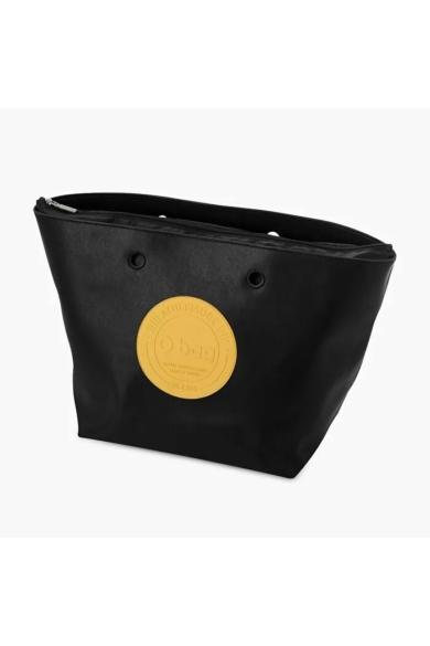 O bag táska komplett DAISY műbőr nagy sárga logóval Nero