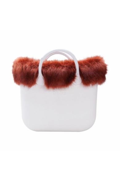 O bag classic gallér Ecopellica Volpe műszőrme Terracotta