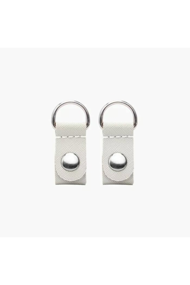 O bag Clip  saffiano Latte ezüst gyűrűvel