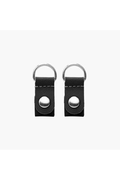 O bag Clip saffiano Nero ezüst gyűrűvel