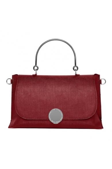 O bag táska komplett Primrose műbőr, merev fém fogóval Rosso