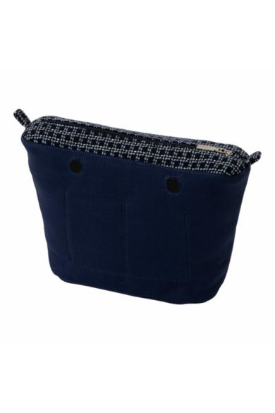 O bag Mini belső vászon Switch Foursquare mintával Blu navy