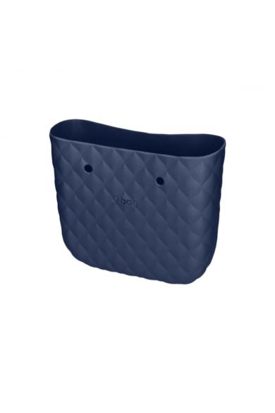 O bag Mini táskatest Capitonne Blu navy