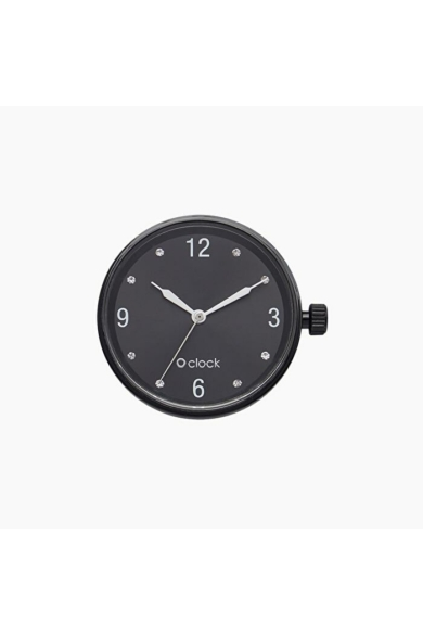 O Clock óramű Crystal Numbers Nero