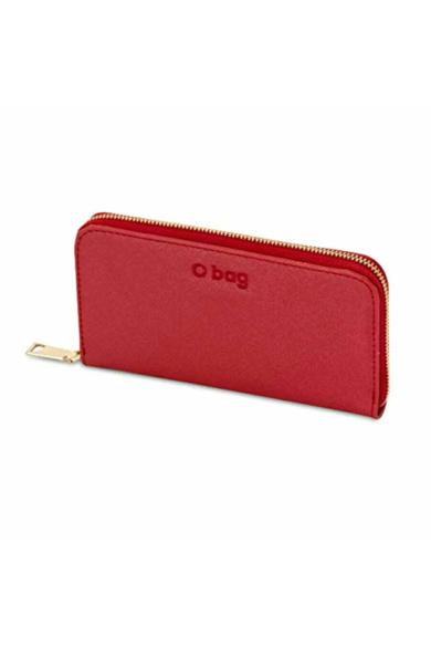 O Wally pénztárca komplett zipzáros saffiano Rosso
