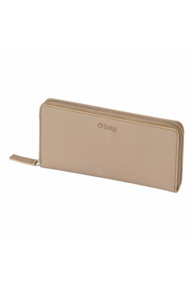 O Wally pénztárca komplett zipzáros soft anyagú Sabbia
