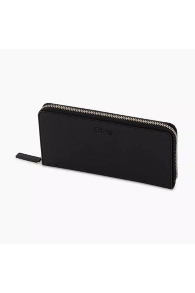 O Wally pénztárca komplett ziptáros soft anyagú Nero
