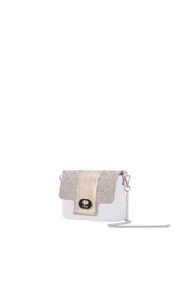 O bag micro Pocket fedlap Flower Sangallo Metallizzato Oro
