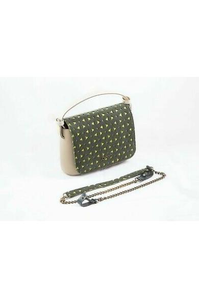 O bag Pocket fedlap filc Feltro Fiori Verde lime