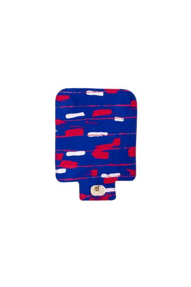 O bag Pocket fedlap Luxury Dripping Bluette/Rosso
