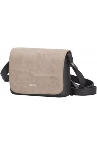 O bag Pocket fedlap Microfibra Beige