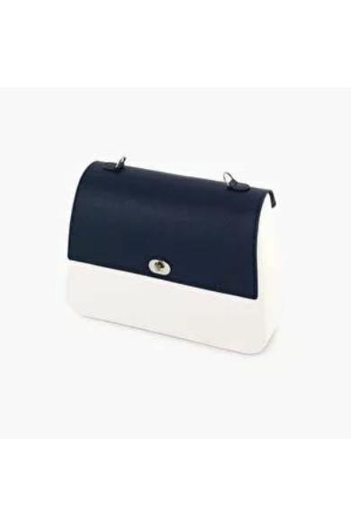 O bag Queen fedlap Saffiano műbőr Blu navy